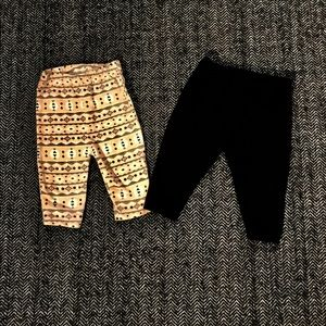 Pair of leggings size 3 and size 3-6m
